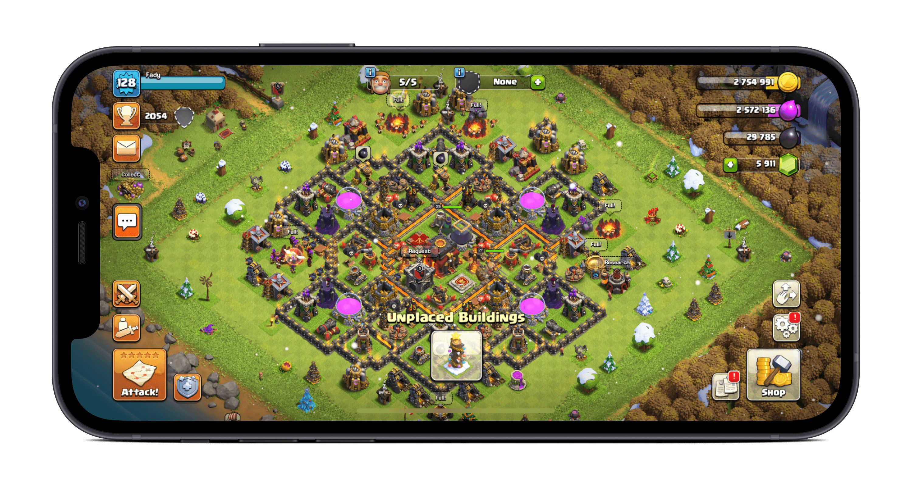 screenshot of Clash of clans hack