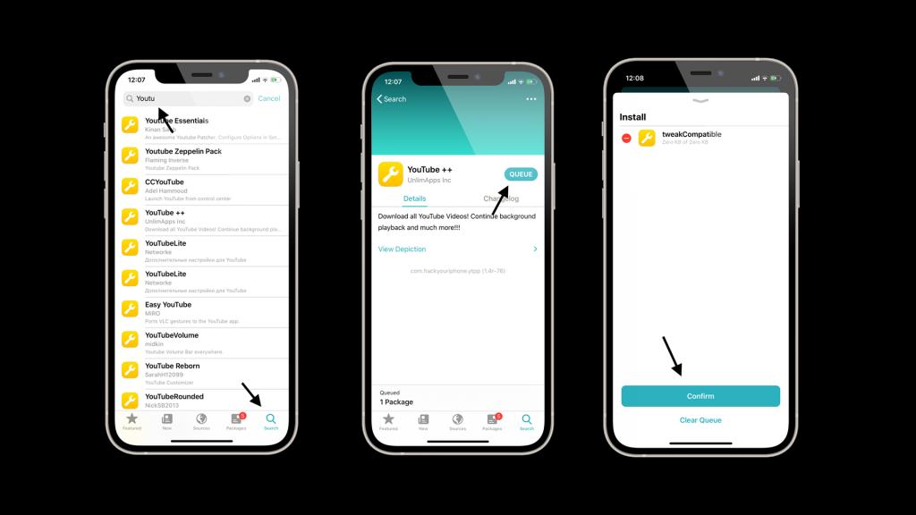 Steps to install jailbreak tweaks using sileo